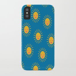 Little Sunshine (blue) iPhone Case