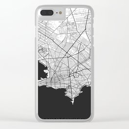 Montevideo Map Gray Clear iPhone Case