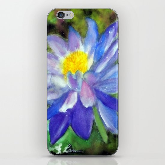 Blue Violet Lotus flower iPhone & iPod Skin