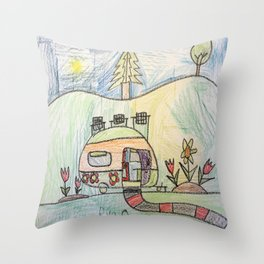 Camping in Style! Throw Pillow