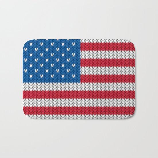 American Flag - knitted Bath Mat