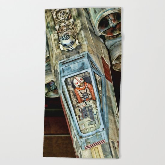 X-Wing Fighter Beach Towel