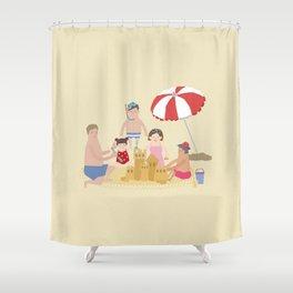 Sea, Sun and Sand Shower Curtain