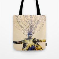 doctor who Tote Bags featuring Doctor Who by Laura