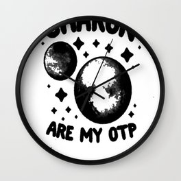 PLUTO _ CHARON ARE MY OTP T-SHIRT Wall Clock