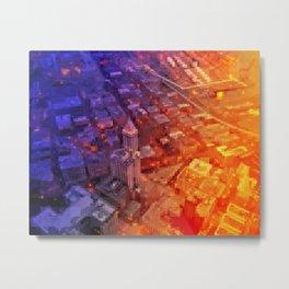 Pixelscape Metal Print