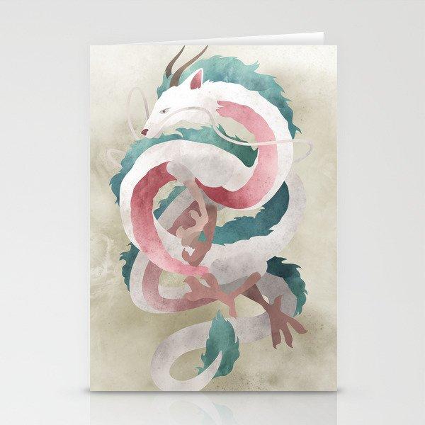 Spirited Away Haku Dragon Illustration Miyazaki Studio Ghibli Stationery Cards By Lizasou Society6