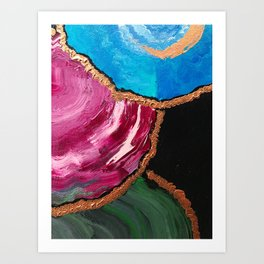 JEWEL PART 2 | Acrylic abstract art by Natalie Burnett Art Art Print