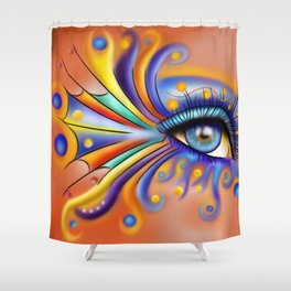 Arubissina V1 - fish eye Shower Curtain