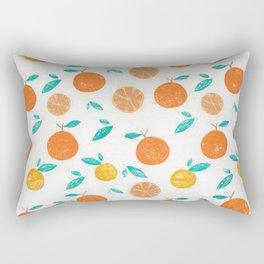 Oranges Pattern1 Rectangular Pillow