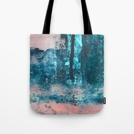 Wishes: an abstract mixed-media piece in blues, pink, and gold Tote Bag