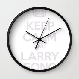 Keep Calm and Larry Fong Wall Clock