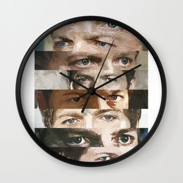 Eyes of an angel Wall Clock