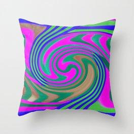 DIZZYING SWIRL Throw Pillow