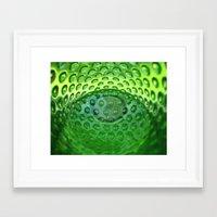 emerald Framed Art Prints featuring Emerald by Evan Gaskin