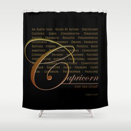 Sign Language for Capricorn Shower Curtain