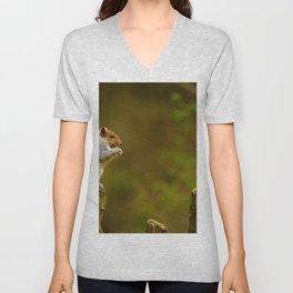 Cute Squirrel (Color) Unisex V-Neck