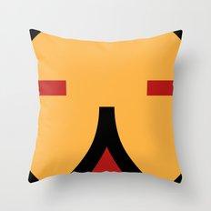 face 9 Throw Pillow