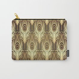 Golden Art Deco print Carry-All Pouch