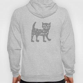 Gray cat pattern Hoody