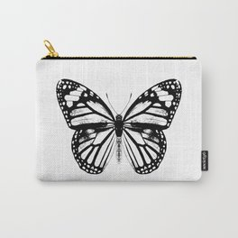 Monarch Butterfly | Vintage Butterfly | Black and White | Carry-All Pouch