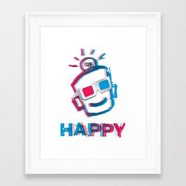 3D HAPPY Framed Art Print