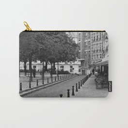 Paris in Black and White, Place Dauohine Carry-All Pouch