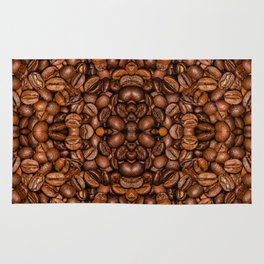 Shiny brown coffee beans Rug