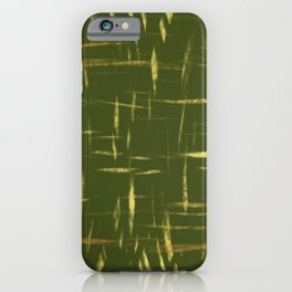 Earth Green Gold iPhone Case