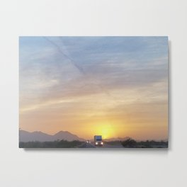 Running away from the Sun Metal Print