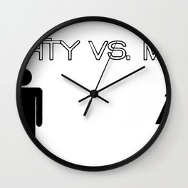 The Mighty vs. The Meek Wall Clock