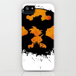 Goku Dragon Ball King Monkey Saiyan Primitive iPhone Case