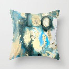 Golden Reef Throw Pillow
