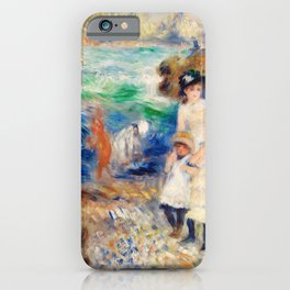 Pierre-Auguste Renoir - Children on the Seashore, Guernsey iPhone Case