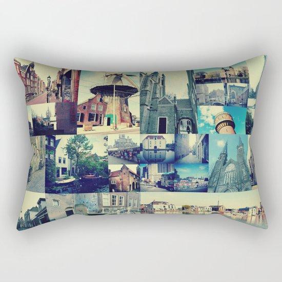Photo collage Delft 5 Rectangular Pillow