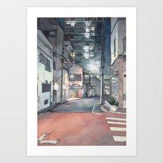 Tokyo at Night 03 Art Print