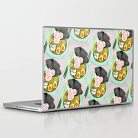 ramen Laptop & iPad Skins featuring Ramen Cats Pattern by Cindy Suen