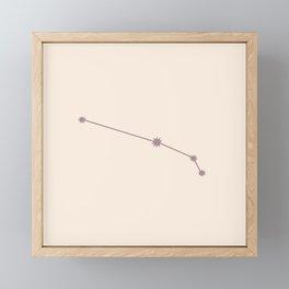 Aries Zodiac Constellation Neutral Rose Framed Mini Art Print