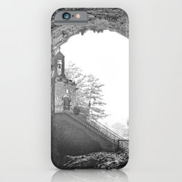 French Chapel carved in stone in caves of la Balme iPhone Case