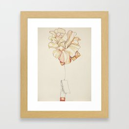 Clip Rose Framed Art Print