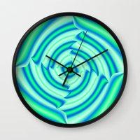 blues Wall Clocks featuring Blues by Elena Indolfi
