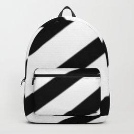 Soft Diagonal Black and White Stripes Backpack