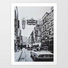 Carnaby Street, London Art Print