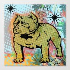 Cool dog pop art Canvas Print