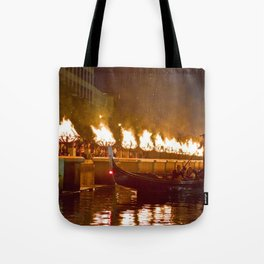 Venetian Gondola on Providence River - Waterfire Providence, Rhode Island Tote Bag