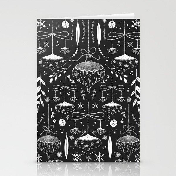 Magic Holidays - black Stationery Cards