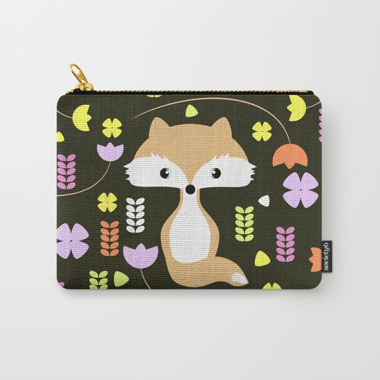 Fox among flowers II Carry-All Pouch