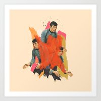 spock Art Prints featuring Spock by Iotara