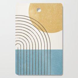 Sunny ocean Cutting Board