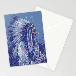 native american portrait-sitting bull Stationery Cards